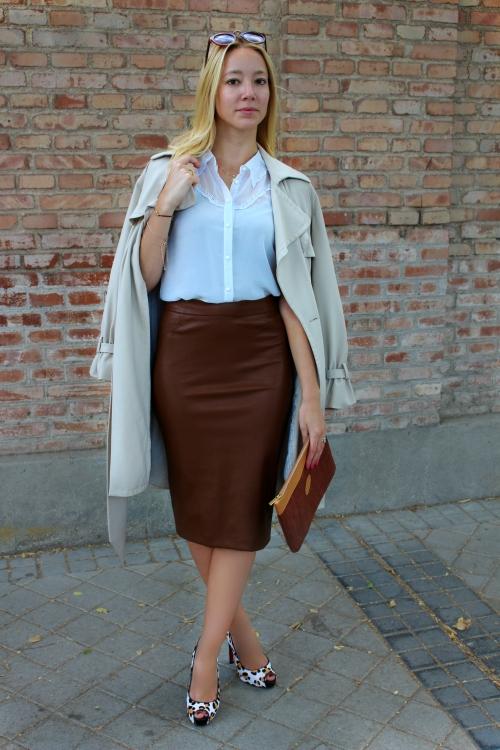 falda cuero