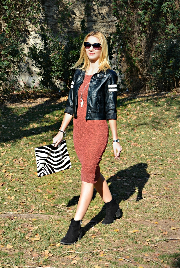 dress marsala knitted streetstyle
