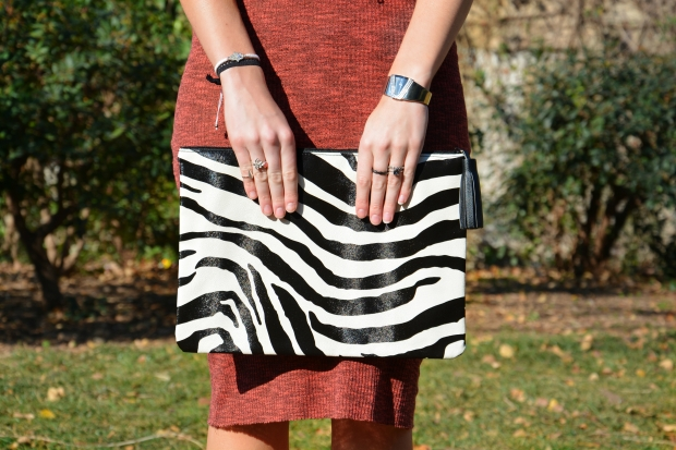 zebra-bag-clutch-silver-rings-watch-bracelet