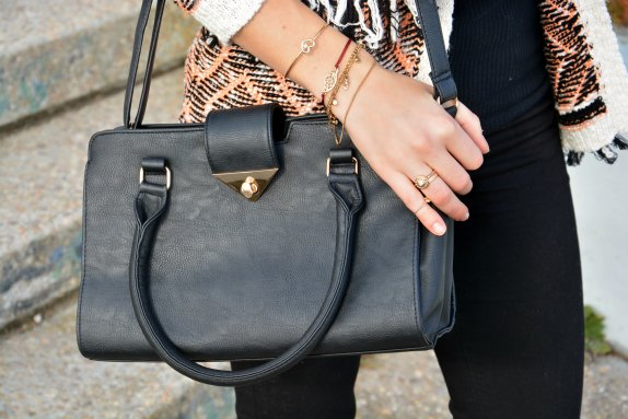 black bag leather