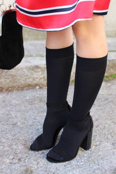 winter sandals socks sandalias negro black