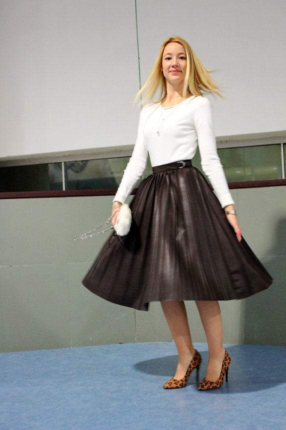 midi skirt streetstyle fashion week 2015