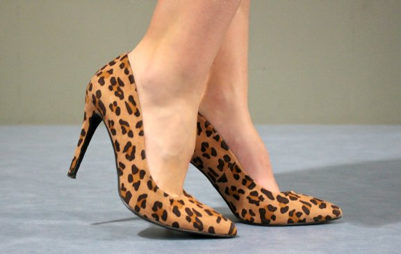 leopard heels stilettos pattern pumps
