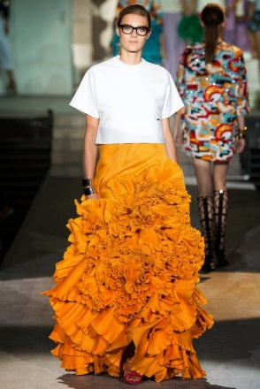 spring summer 2015 trends dsquared falda naranja orange