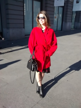 red coat oriental abrigo asia trends 2015 summer ootd