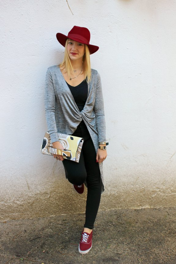 knot streetstyle silver fedora hat clutch