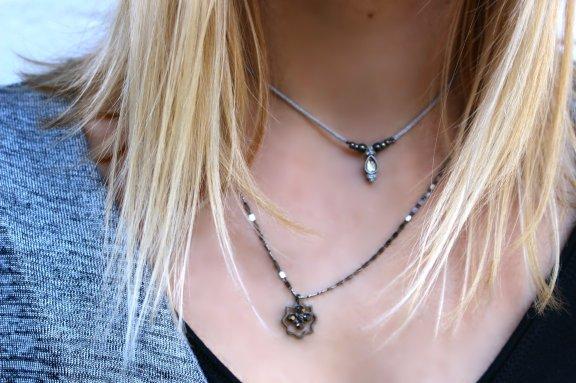 jewellery silver necklace geometricblack microjewellery