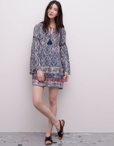 pull bear summer dress boho vestido flores hippy