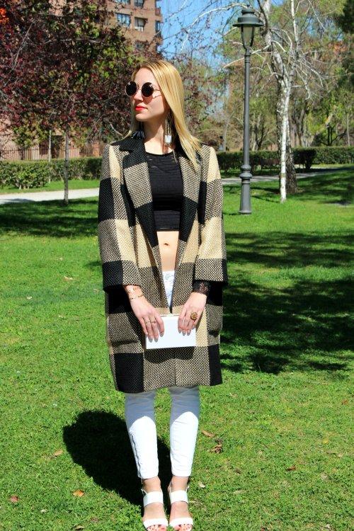 checked coat zara abrigo cuadros primavera spring