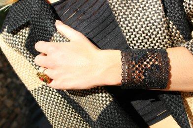 lace bracelet black summer verano pulsera