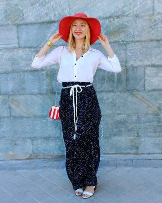 amazing look summer navy increible precioso marinero pantalones fiesta