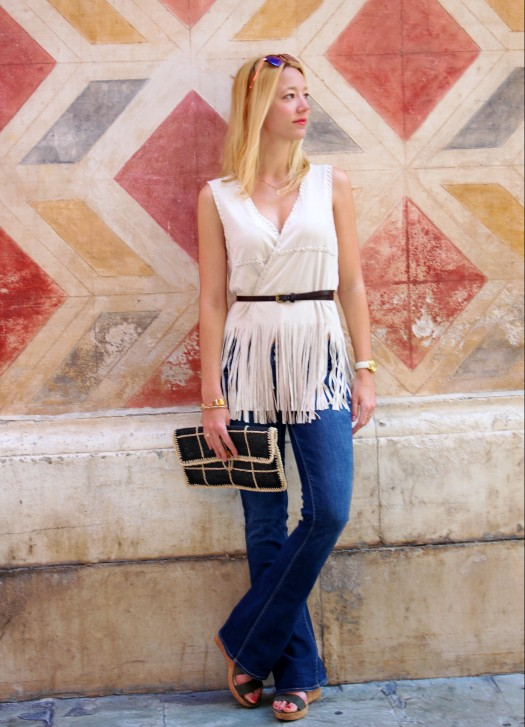 streetstyle fringes flecos ootd bootcut