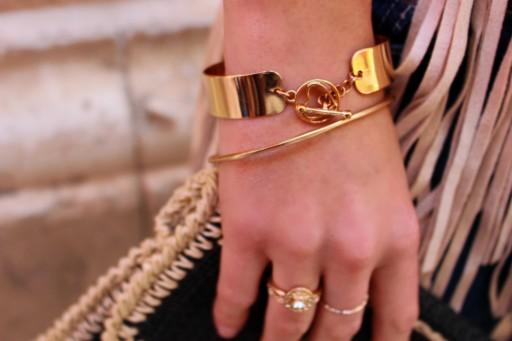 gold bracelets fashionblogger oro pulsera anillos verano summer