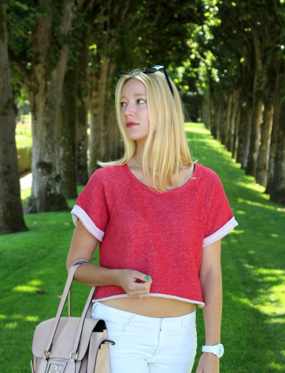active wear sweater sporty color rojo sudadera moda outfit trends
