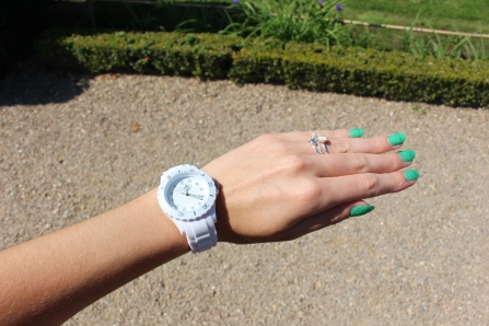 watch trend reloj 2015 summer water resistant fashion blogger sporty cute white nails uñas