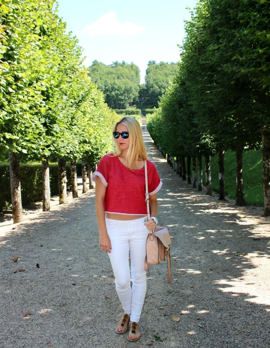 sporty chic ootd streetstyle red