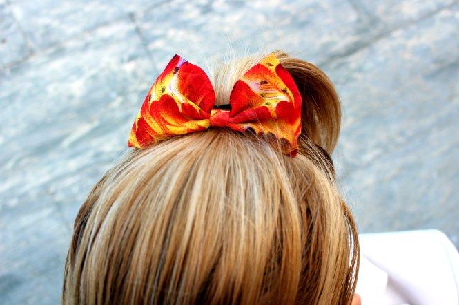 ribbon ponytail 2015 fashionblogger