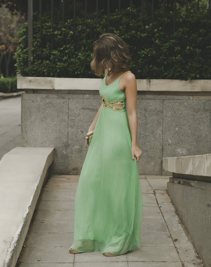 green dress cuasiperfecta wedding boda eventos maxidress luxury event