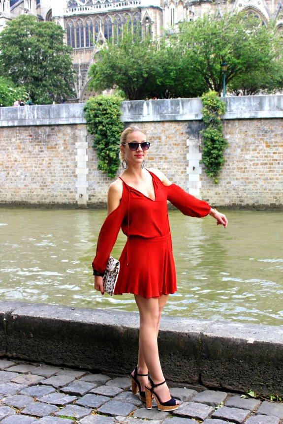 marsala dress vestido tendencias 2015 trends silk gasa seda verano off-shoulders