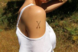 gold temporary tattoo jewels red white hair oro tatuajes metalicos temporales metallic