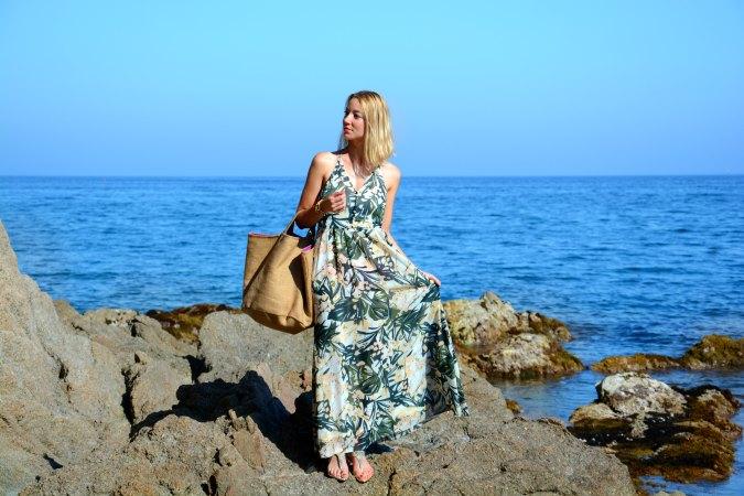 lovely girl streetstyle wiw trends tendencias selva vestido verde green dress long skirt H&M