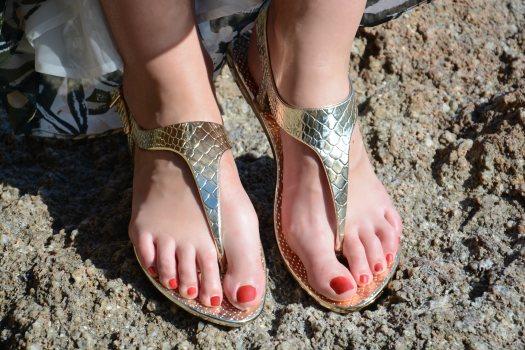 gold sandals doradas sandalias oro golden waterproof 2015 trends shoes