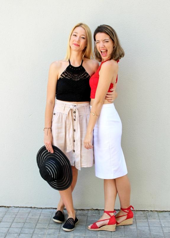 wiw pencil skirt white linen lino lapiz falda beige