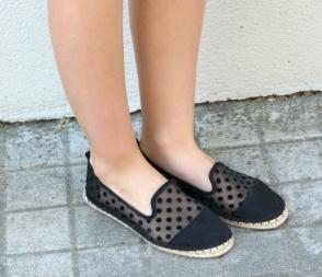 espadrilles black transparent plumetti dots alpargatas shoes verano summer