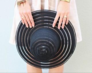 hat black pamela summer transparent style elegant chic