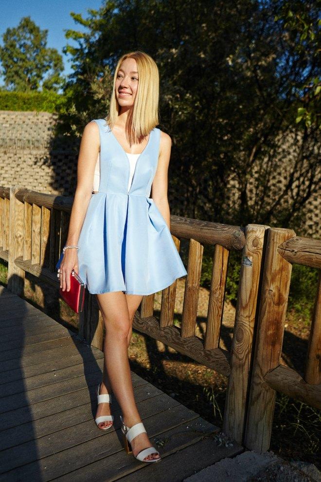 gorgeous dress blue beach elegant classy style streetstyle blogger tendencias