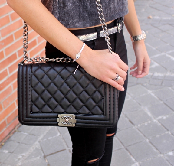 chanel boy it bag bolso precioso negro black gorgeous