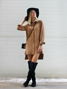 hat sombrero dress ootd fashion blogger style suede pretty girl