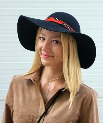 hat sombrero black cute girl smile happy blonde fashionblogger necklace silver