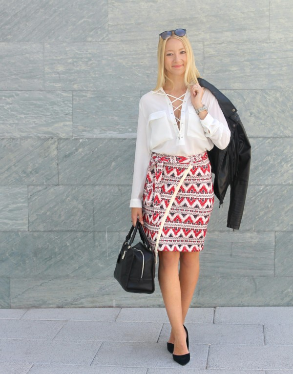 streetstyle lace up shirt white folk skirt trends winter 2015 midi loewe 2016