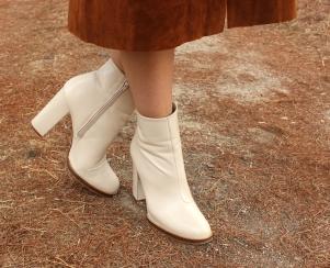 beige boots leather botas cuero blancas invierno winter