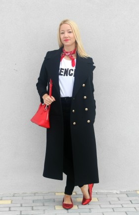navy coat long abrigo largo marinero chloe trends wniter 2015 2016
