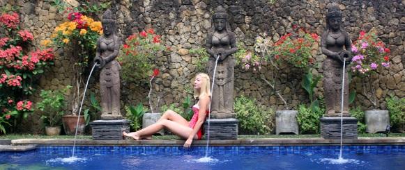 bali fashionblogger swimsuit swimwear inspiration red bikini beach 2016 trends