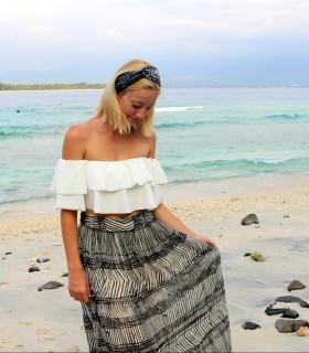 bardot neck style inspiration lifestyle blogger beach travel holidays ideas
