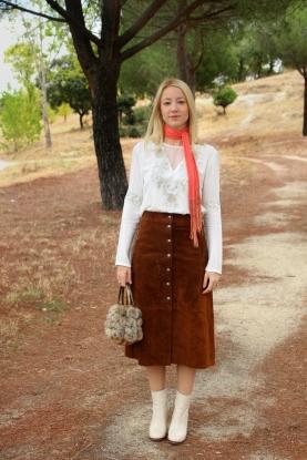 folk buttoned skirt falda abotonada ante zara blogger