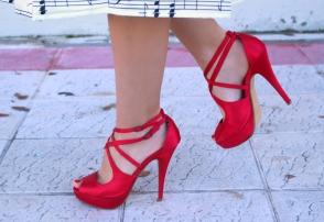 red pumps tacones rojos silk seda party events look outfit wiw