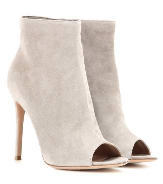 gianvito rossi ankle boot suede open toe trends 2016