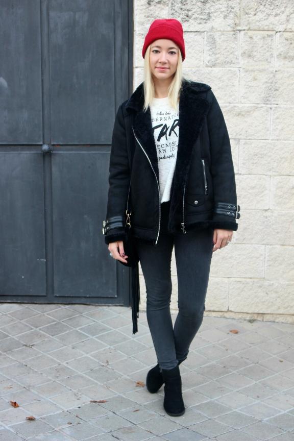 aviator jacket fashion blogger moda lifestyle streetstyle ootd abrigo coat black inspo