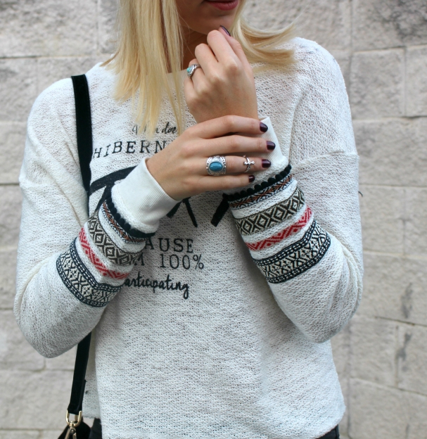 boho chic rings silver fashion bloggers pretty cute inspo style wiw nails polish embrodered sleeve folk