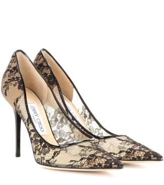 jimmy choo lace heels