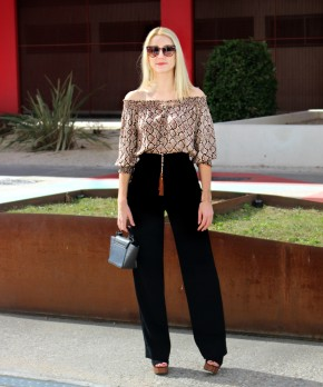 loose pants trousers flare black anchos