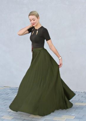 rde militar green streetstyle fashionblogger moda maxi skirt falda larga ve