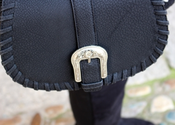 bag buckle boho chic black negro shoulder hombro