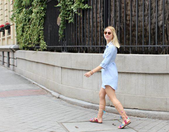 streetstyle fashion blogger moda vestido azul cielo verano