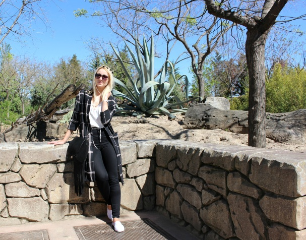 fashionblogger spring summer trends black white ootd jeans high waist sunnies