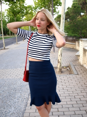 stripes french style tips